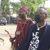Herbalist That Followed Sowore To Court Did Not Wear Face Mask (Photos)