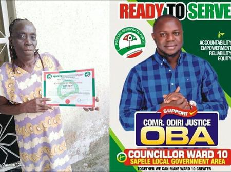 Reactions As PDP Gives Old Woman Councillor Ticket In Sapele LGA (Photos)