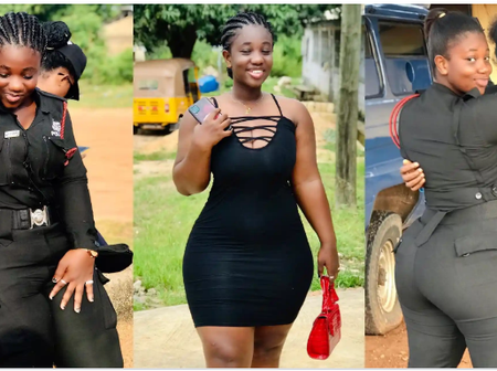 This Pretty Ghanaian Police Woman Is Slaying Like A True Fashion Model