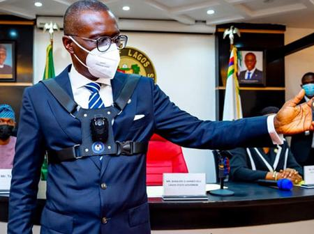 Photos :Sanwo-Olu introduces body cams into Lagos State security agencies.
