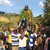 Ongoing Celebration in Keben, Kericho County After Their Son Appeared 7th Best in KCPE Exams