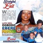 Woman Who Died Alongside 4 Children Sets To Be Buried On Thursday