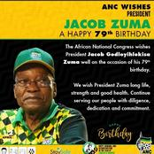 People react to the massage that was sent by the ANC to Jacob Zuma