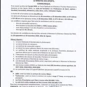 Concours : Lancement du concours d'entrée à l'INJS pour être professeurs d'EPS