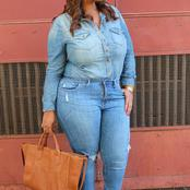 Checkout These Latest Adorable Jeans For Beautiful Curvy Ladies.