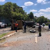 A truck driver lost control and crushed into three vehicles see what happened