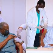 Photos Of President Muhammadu Buhari & Vice, Osinbajo Taking The New Covid 19 Vaccine This Morning
