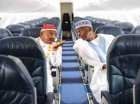Saraki lauds Gov Emmanuel on 'remarkable service' of Ibom Air