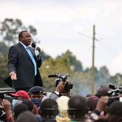 President Kenyatta Speaks To a Huge Crowd At Tumutumu Market As He Opens Up About BBI Report