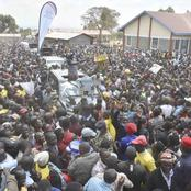 (PHOTOS) Deputy President William Ruto Heroically Received In Transnzoia