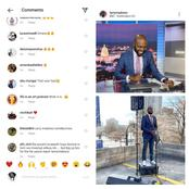 Larry Madowo's english accent causes reactions from fans  on his instagram videos of BBC news