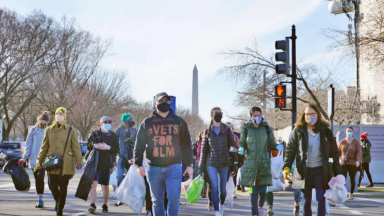 Veterans Group Cleans Up in D.C. After Capitol Riots: 'A Positive in the Face of Something Negative'