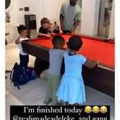 Davido shares picture of his daughter and friends, says they have taken over his house