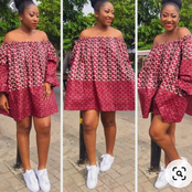 Checkout How You Can Perfectly Rock Your Sneakers With An Ankara Dress