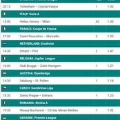 Place On These 5 Must Win Multibets With GG,Over 2.5 Goals And Amazing Odds This Late Night