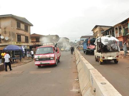 Enugu State Government Commences Decontamination of markets, schools, hospitals and churches
