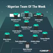 Nigerian Team Of The Week: Ajayi, David, Bamidele Earn Selection, Kalu, Chukwueze & Ndidi Missing