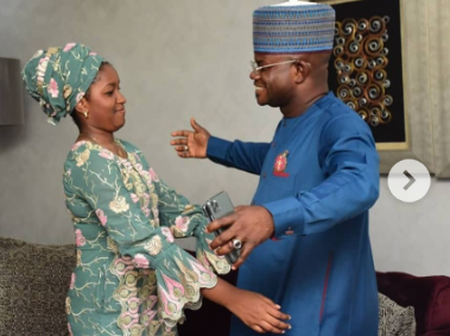 See 17 Romantic Photos Of Kogi State Governor And His Wife