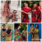 30 Stylish And Exquisite Matching Ankara Dresses For Mother And Daughter