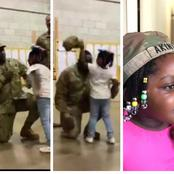 After this soldier got promoted, check out what his little daughter did to him (Photos)