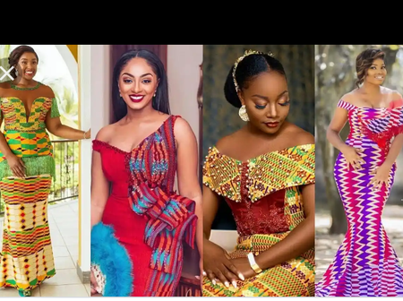 Photos Of Latest Gorgeous Kente Styles For Outings