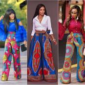Forget About Leggings Trousers, Checkout These Beautiful Ankara Palazzo trousers- (Photos)