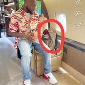 Davido Arrives Saint Martin, Check Out What He Was Spotted With Inside The Bag (Photos)