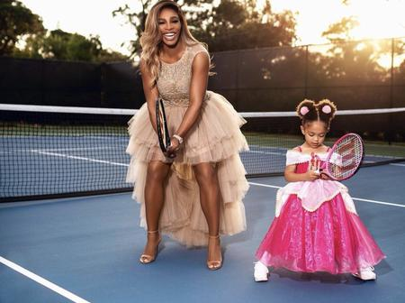 Serena Williams and her Daughter Look Beautiful and Stylish as they Play Tennis Together (Photos)