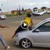 What Is Wrong With Polo Drivers? A Woman Jumps On To The Bonnet Watch Vid And See Why
