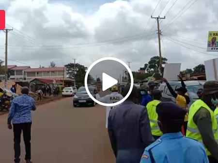 Tight Security Escorts DP William Ruto as Kiambu Residents Overwhelmingly Welcome him