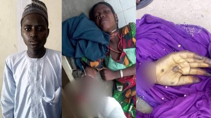 PHOTO: 22-year-old man arrested for cutting off wife's hand in Yobe