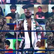 WWE Star Parades SmackDown With Nigerian Soldiers and Special Sword [Photos]