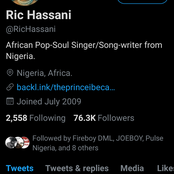 Ric Hassani Releases New Single Titled 'Thunder Fire You'