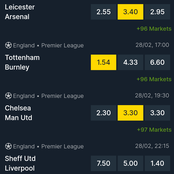 Supa Sunday Tipsters. Correct Predictions For Chelsea, Arsenal, Liverpool and Tottenham
