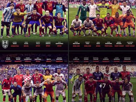 Champions League Winning Squads In Their National Colors