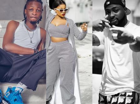 Tacha and Davido top the Africa social chart while Laycon drops down