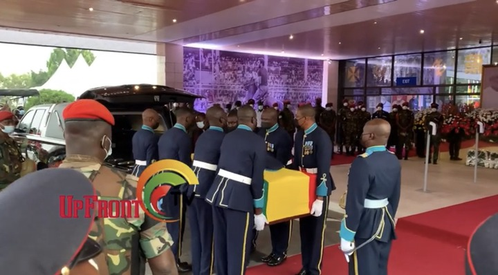 11dc16a5f47e4dc1aee9ddb42a89ef35?quality=uhq&resize=720 - Sad Moment: How Body Of The Late Papa J Got Departed In A Long Convoy From The AICC, Awaiting Burial