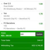 Harvest Hugely Tonight With These Genuinely Fixed Multi bets With Under And Over 2.5 Goals