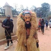 See What Is Written On The Forehead Of A Masquerade That Sparked Reactions On Social Media
