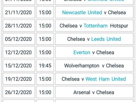 See Chelsea's next 15 EPL fixtures. They probably may not be having a fun filled Xmas