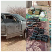 Good News As Military Seized 77 AK47 Rifles, 7 RPGs & 2 Rocket Launchers From Arm Smugglers