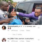 Reactions Trail The Video Of A Nigerian Pastor Who Sat In His SUV To Conduct Deliverance For Girl.