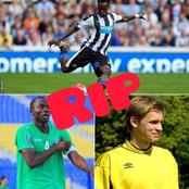 4 footballers who died on the pitch.