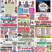 Titrologie / Lundi 01 mars 2021 : Clash entre pouvoir et opposition