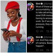 Simi Is Angry, Checkout 4 Things She Posted About Nigerian Politicians Recently (SCREENSHOT).