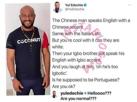 Nollywood Actor Yul Edochie Blasts People Who Hates How Igbo People Talk