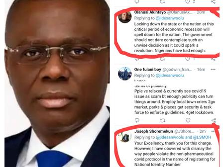 Mixed reactions on social media as Lagos State Governor shares Covid 19 preventive measures
