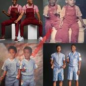 Reactions As Former Bbnaija Housemate And His Twin Brother Recreate Their Childhood Photos