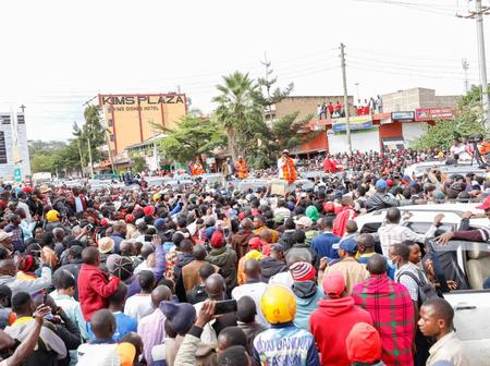 Baba Reigns! Heroic Reception For Raila Odinga In Narok County As He Drumms Up Support For BBI Bill