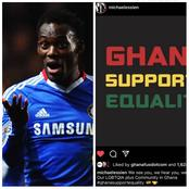 Read How Ghanaians Reacted To Chelsea's Micheal Essien's Support of Lesbians And Gays